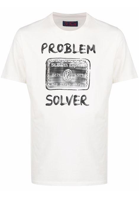 White cotton Problem Solver print T-shirt  MC2 |  | ARNOTT-SOLVER CARD10
