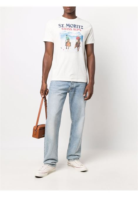 white cotton Swiss Alps graphic-print short-sleeved T-shirt  MC2 |  | ARNOTT-ST POLO HORSE10