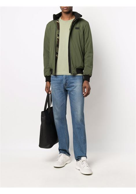 Green zip up County Sherpa jacket  MC2 |  | COUNTRY SHERPA5254