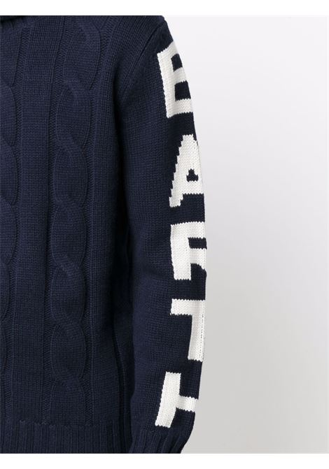 Navy blue cashmere and wool Fisherman cable-knit roll-neck jumper  MC2 |  | FISHERMAN-ST BARTH61