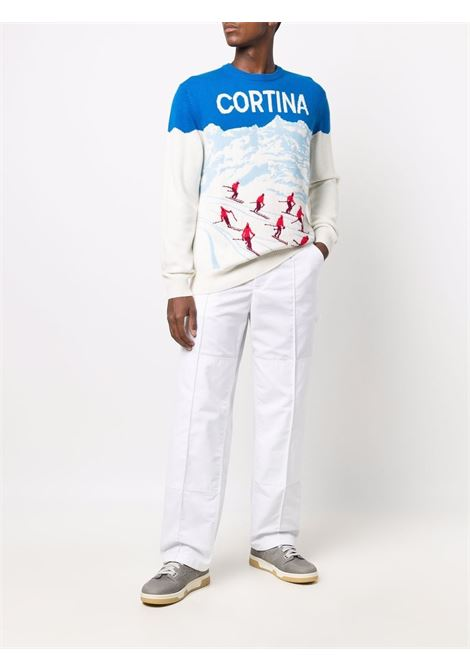blue and white multicoloured wool and cashmere Cortina jumper  MC2 |  | HERON C-ALPS POSTCARD17