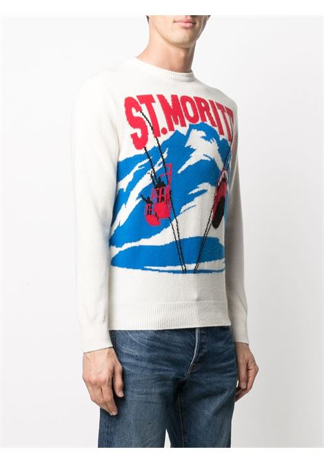 White wool and cashmere intarsia knit jumper  MC2 |  | HERON C-MORI POSTCARD10