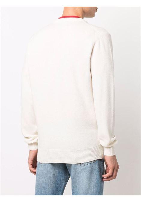 white cashmere and wool Champagne & Montagne intarsia jumper  MC2 |  | HERON-MONCHAMP10