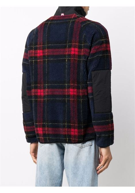 Navy blue and red plaid zip-up jacket featuring MC2 embroidered logo  MC2 |  | KEYSTONE-EMB BOB CLUBTR61