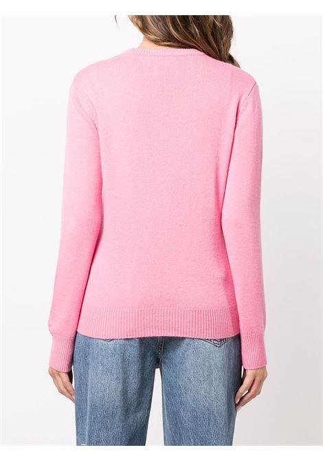 Pink wool and cashmere Saint Moritz Queen  embroidered jumper MC2      NEW QUEEN-EMB MORI QUEEN2141