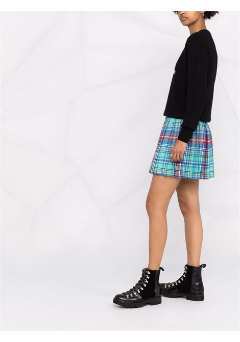 Maglione in lana nera Belle Rebelle con slogan ricamato rosa MC2 | Maglieria | NEW QUEEN-EMB REBELLE00