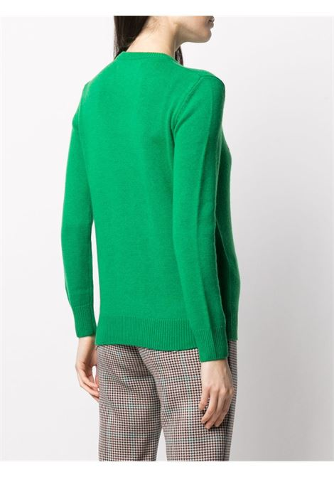 Green and pink wool and cashmere Weekend j'arrive knit jumper  MC2 |  | NEW QUEEN-EMB WEEKEND JARRIVE57