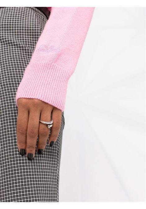 Maglione ricamato rosa bubblegum Bella e Impossibile MC2 | Maglieria | NEW QUEEN-IMPOSSIBILE21