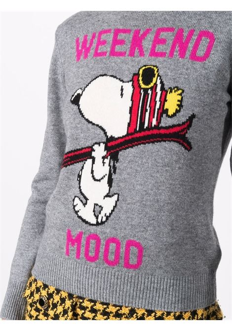 Light grey and fuxia wool and cashmere Weekend Mood  MC2 |  | NEW QUEEN-SNOOPY SKI15M25