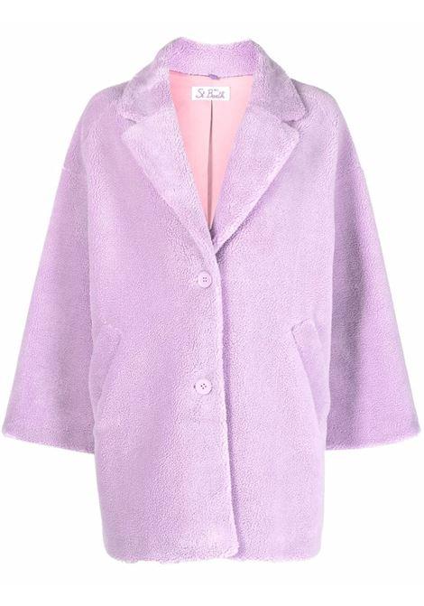 Cappotto in finto shearling lilla con scritta Don't Follow Me MC2 | Cappotti | TEDDY-DONT FOLLOW24