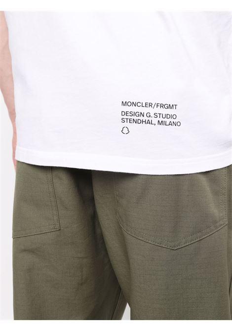 white and black cotton Moncler x Fragment Design print t-shirt MONCLER GENIUS |  | 8C000-03-8392B001
