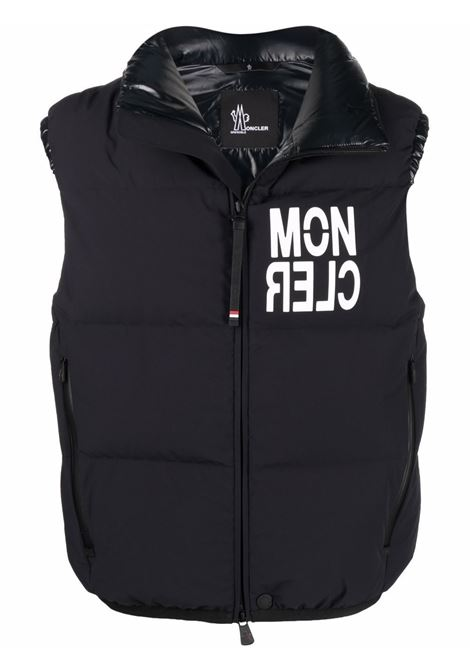 Gilet imbottito in piuma d'oca nera con logo Moncler Grenoble bianco MONCLER GRENOBLE   Gilet   NANTAUX 1A000-10-5399D999