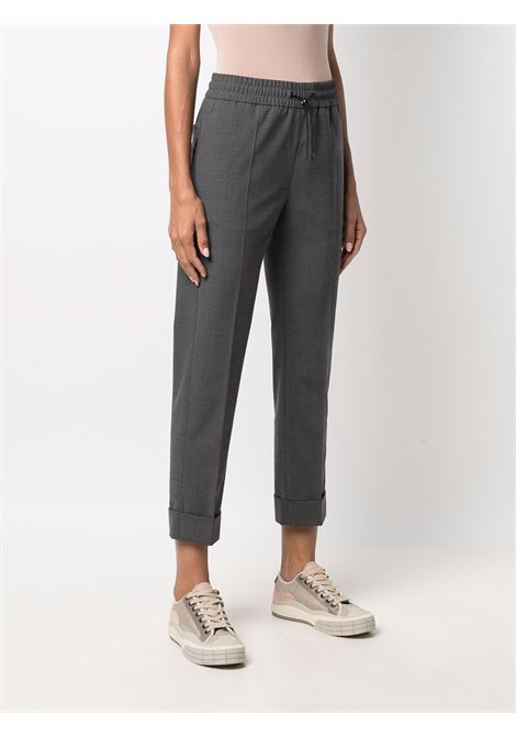 Dark grey lightweight cropped chino trousers   MONCLER |  | 2A000-01-54AUD930