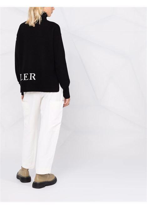 black cashmere-virgin wool Moncler embroidered-logo roll neck jumper  MONCLER |  | 9F000-12-A9564999