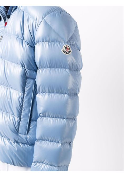 light blue Cuvellier feather down hooded zip-up down jacket MONCLER      CUVELLIER 1A000-02-6895071A