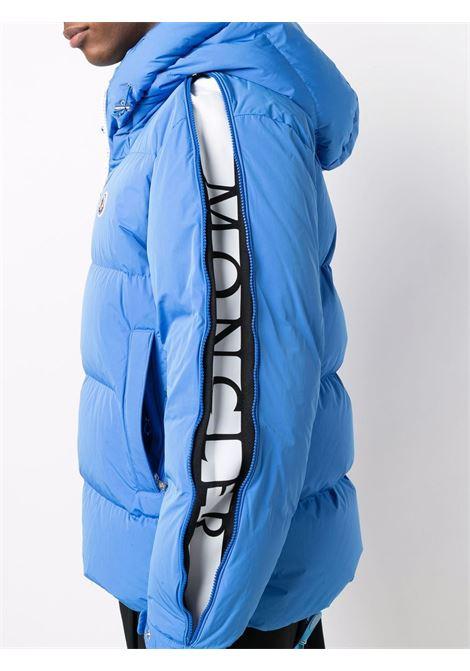 Piumino imbottito in piuma azzurro Idil con cappuccio MONCLER   Piumini   IDIL 1A000-94-54A91730