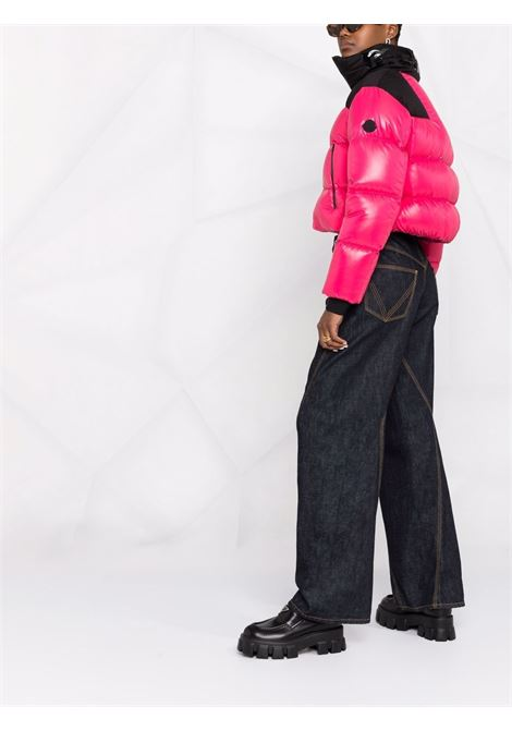 Bubblegum pink and black Jasione feather-goose down jacket  MONCLER      JASIONE 1A000-65-68950520