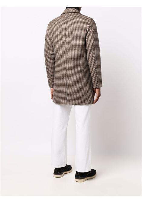 Cappotto monopetto in lana a quadri marrone PALTO' | Cappotti | ALFREDO VICHYC958