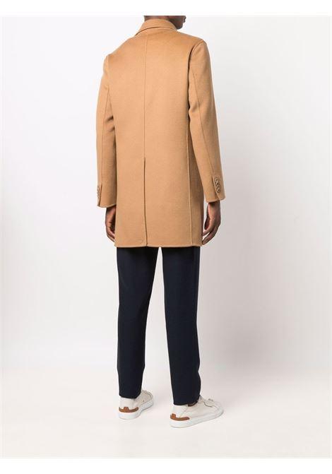 Cappotto corto doppiopetto in lana beige PALTO' | Cappotti | GREGORIO DB950