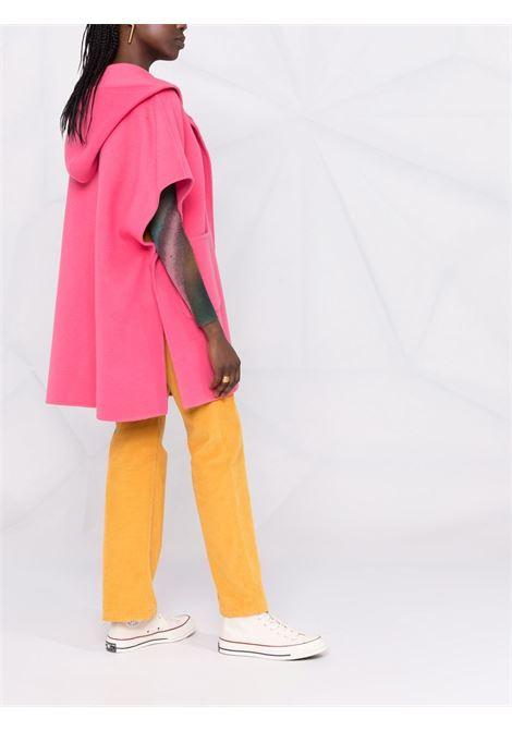 Cappotto Leak in lana rosa a maniche corte con cappuccio P.A.R.O.S.H. | Cappotti | D480512-LEAK025
