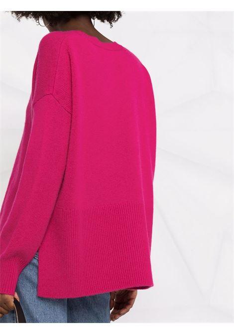 Maglia fucsia girocollo in lana e cashmere P.A.R.O.S.H. | Maglieria | D540554-LIKE042