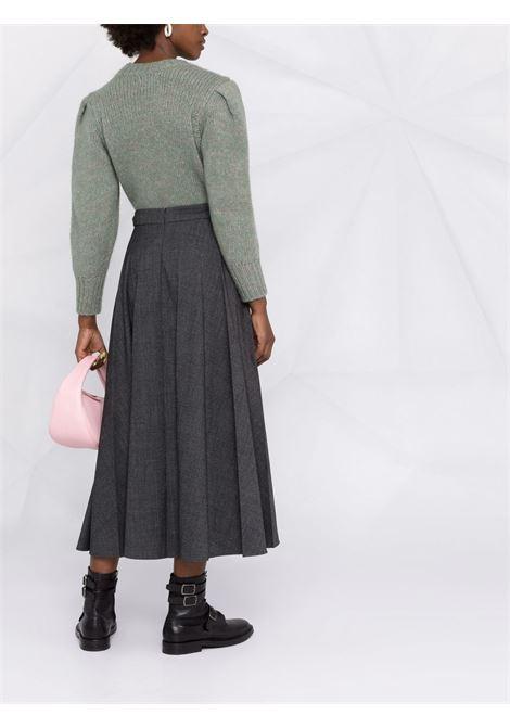 Dark grey wool pleated maxi skirt  P.A.R.O.S.H. |  | D620435-PLANE020