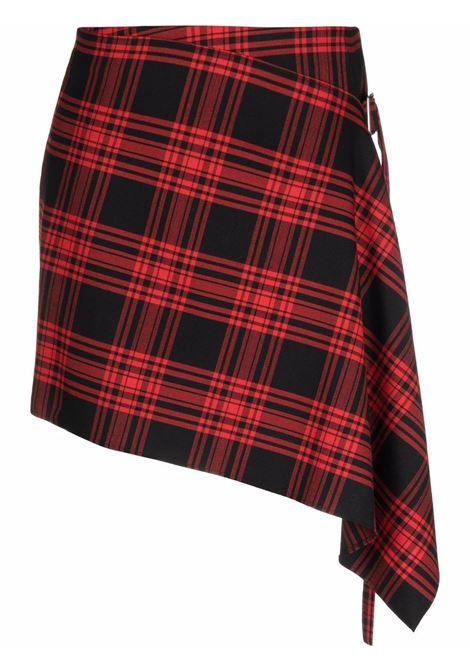 Red virgin wool asymmetric skirt  P.A.R.O.S.H. |  | D630383-LACK809