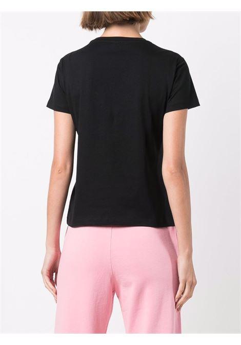 Black cotton Love gem-embellished T-shirt  PINKO |  | 1G16JB-Y4LXZ99