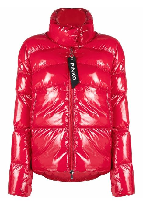 red zipped puffer jacket featuring padded design PINKO |  | 1G16KU-Y767R58