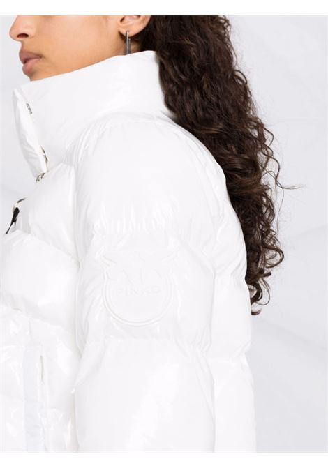 Piumino imbottito bianco con zip logata Pinko PINKO | Piumini | 1G16KU-Y767Z14