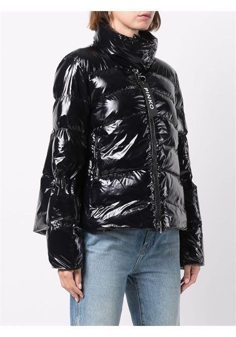 Black zipped puffer jacket featuring padded design PINKO |  | 1G16KU-Y767Z99