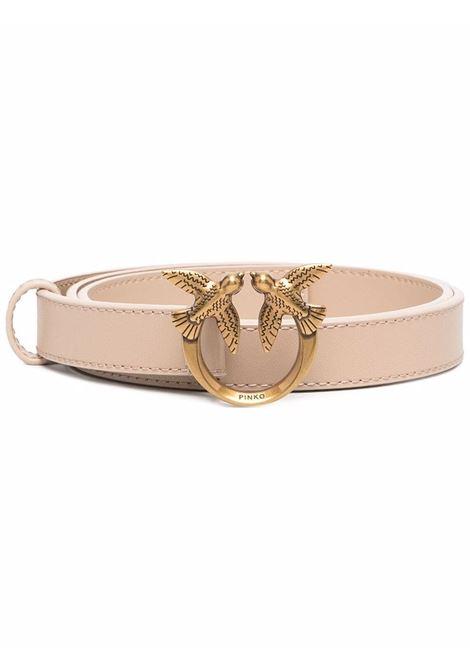 Cintura Love Berry da 2 cm in pelle beige con fibbia Pinko oro PINKO | Cinture | 1H20X8-Y6XTC61