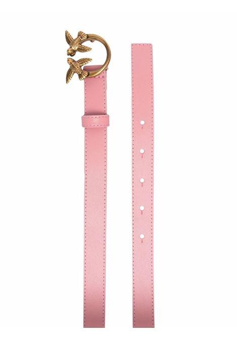 Cintura Love Berry da 2 cm in pelle rosa con fibbia Pinko oro PINKO | Cinture | 1H20X8-Y6XTP66
