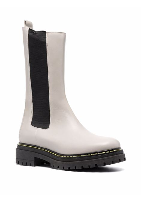 White leather tall boots featuring contrast stitching PINKO |  | 1H20ZL-YSQSZ11