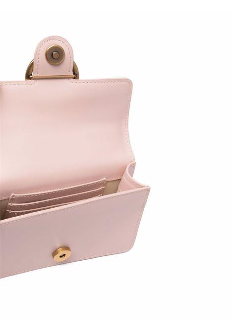 Borsa in pelle rosa con fibbia dorata Love Baby Icon Simply PINKO | Borse a tracolla | 1P22A4-Y6XTO81