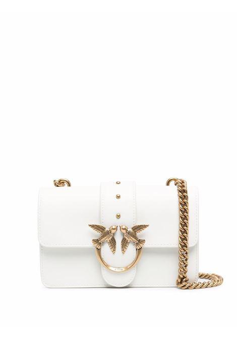 Bright-white Love Mini Icon Simply leather satchel bag PINKO |  | 1P22AB-Y6XTZ14