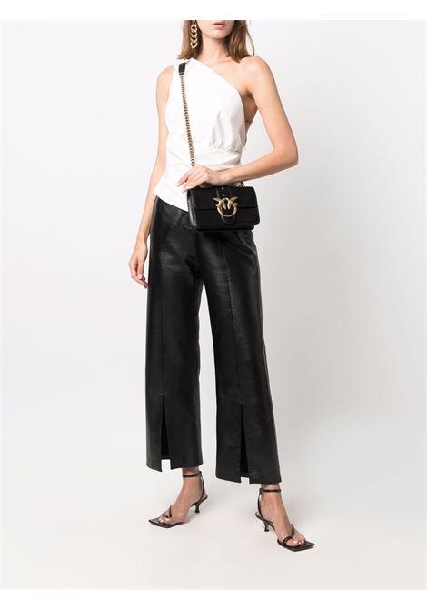 Jet-black leather Love Mini Icon Simply satchel bag  PINKO |  | 1P22AB-Y6XTZ99