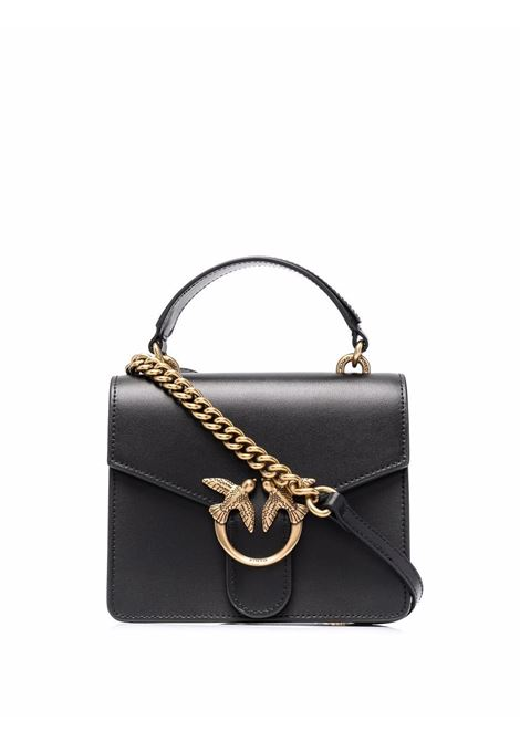 black leather Love Mini bag featuring gold-tone Pinko logo  PINKO |  | 1P22AK-Y6XTZ99