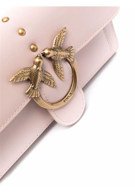 Borsa portafoglio a tracolla Love Wallet in pelle di vitello cipria PINKO | Portafogli | 1P22AM-Y6XTO81