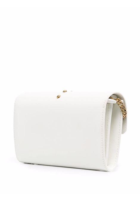 Borsa portafoglio a tracolla Love Wallet in pelle di vitello bianca PINKO | Portafogli | 1P22AM-Y6XTZ14