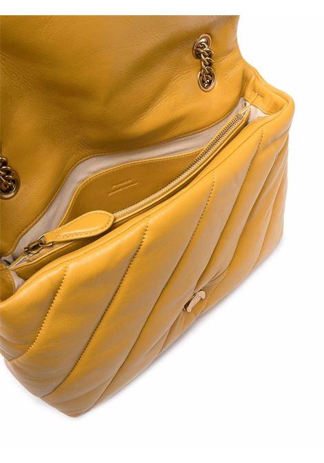 Borsa a tracolla Love Big Puff Maxi Quilt in pelle di montone senape PINKO | Borse a tracolla | 1P22AW-Y6Y3H65