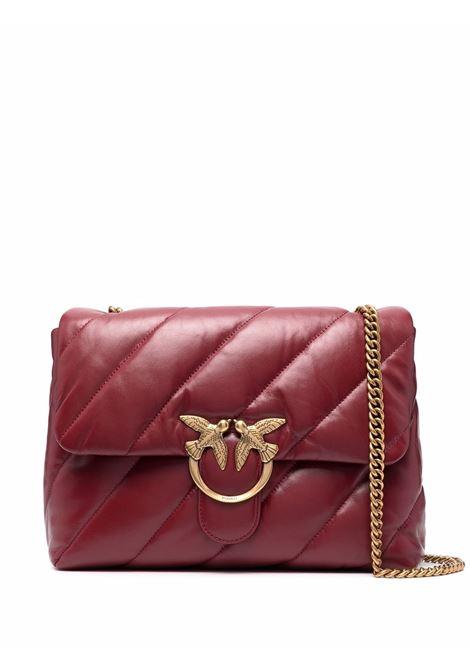 Borsa a tracolla Love Big Puff Maxi Quilt in pelle rosso bordeaux PINKO | Borse a tracolla | 1P22AW-Y6Y3R44