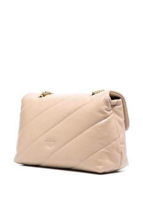 Maxi borsa a tracolla Classic Love Puff in pelle beige PINKO | Borse a tracolla | 1P22AY-Y6Y3C61