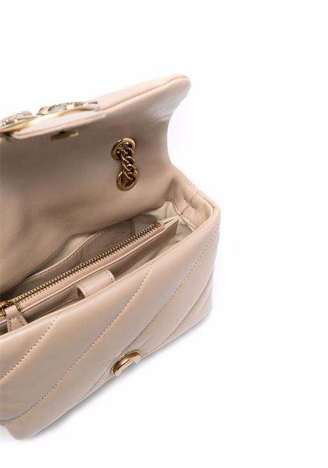 Borsa a tracolla in pelle beige Love Mini Puff Maxi Quilt PINKO | Borse a tracolla | 1P22B1-Y6Y3C61