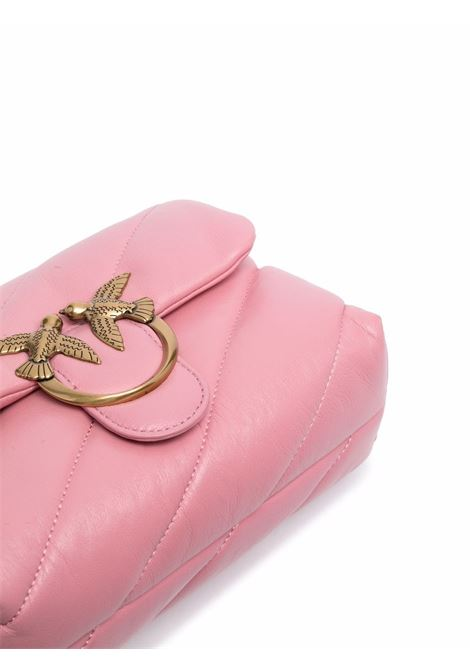 Pink Love Mini Puff Maxi Quilt leather shoulder bag  PINKO |  | 1P22B1-Y6Y3P66