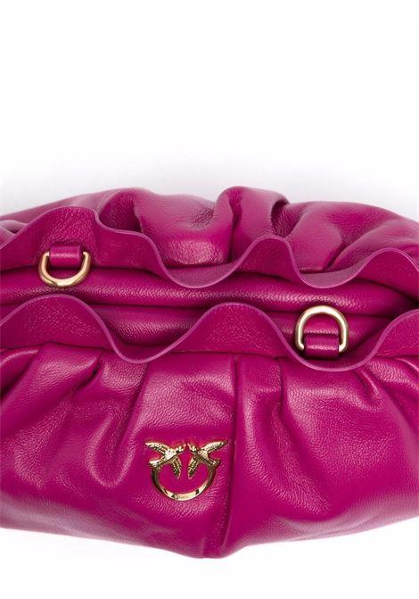 Pochette Mini Chain in nappa fuxia con logo Pinko dorato PINKO | Clutch | 1P22BG-Y7FQW48