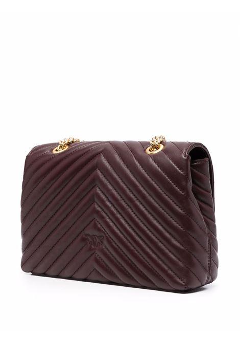 Deep purple leather Love Lady quilted bag  PINKO |  | 1P22BU-Y7FYR64