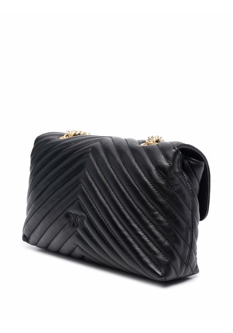 Black leather Lovebird shoulder bag featuring quilted finish PINKO |  | 1P22BU-Y7FYZ99