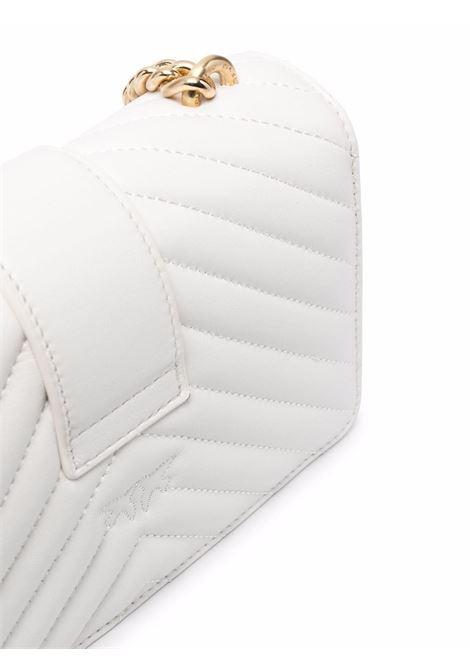 Borsa a tracolla trapuntata Love Mini Icon in pelle bianca PINKO | Borse a tracolla | 1P22BW-Y7FYZ14