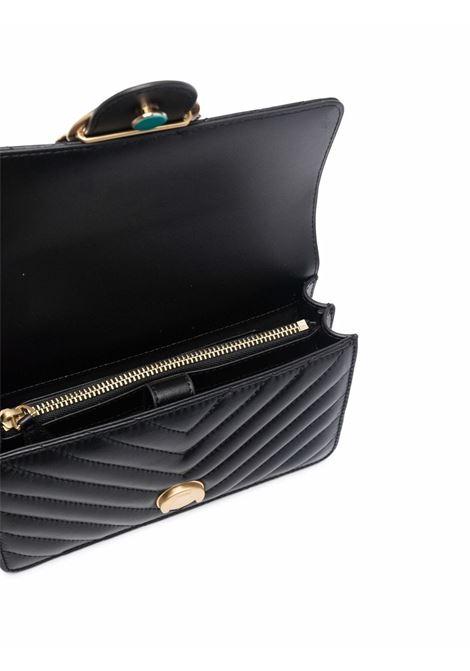 Borsa a tracolla Love Mini Icon in pelle nera con design trapuntato PINKO | Borse a tracolla | 1P22BW-Y7FYZ99